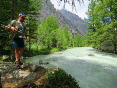 A pesca sulla Dora della ValFerret